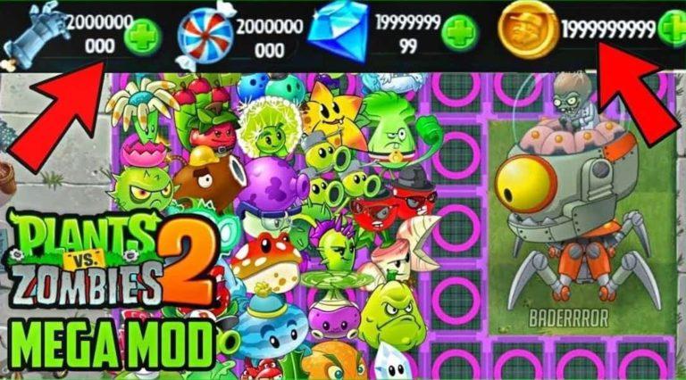Plants vs Zombies 2 MOD APK (All Plants Unlocked, Unlimited Coins, Sun)