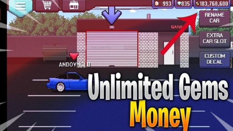 Download Pixel Car Racer MOD APK (Unlimited Money) for Android 2021